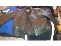 Leather biker jacket size 40 mens