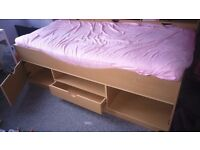 Wooden cabin bed excluding mattress £30
