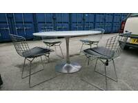 Original 70s dining table and 4 chairs