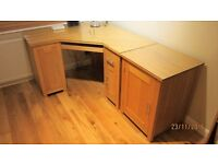 Corner Computer Desk with matching side cabinet