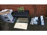 Full set aquarium with light pump filter and heater! In good used condition!