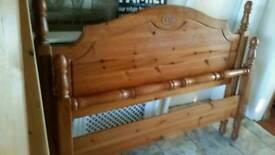solid pine double bedframe