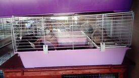 pink ferplast 100cm indoor rabbit guinea pig cage