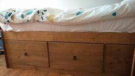 Single Amalfi Cabin Bed, as new, with 3 large storage drawers.