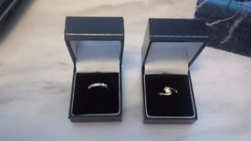 Handmade 24ct Antique Rose Gold and Diamond Wedding AND Engagement Rings