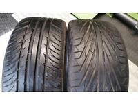 215 35 18 2 x tyres Kumho/DiamondBack