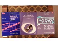 Various books for wind instruments