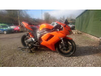 *KAWASAKI ZX6R ZX-6 P7F WILDFIRE ORANGE* FSH, 2 PREV OWNERS