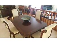 Darkwood Mahogany Dining Room Table And Chairs