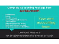 Complete Accounting Services from just £66/month