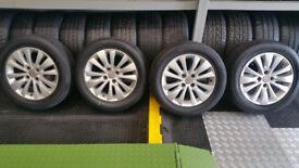 Citroen Genuine 16 alloy wheels + 4 x tyres 215 55 16