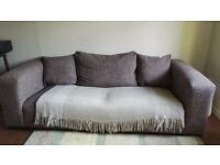 Three seater sofa. Lovely stylish comfortable sofa selling as moving to a smaller house.