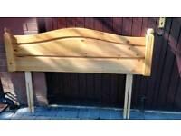 Headboard pine 4ft6in
