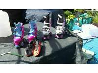 Roller blades and football boots