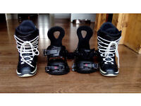 Womens Snowboard Northwave Boots and Ride Bindings size 5.5