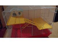 Hamster Cage with house and wheel