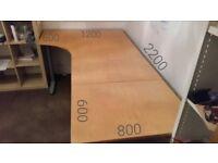 Ikea Galant Corner Desk. Oak vaneer. Large.