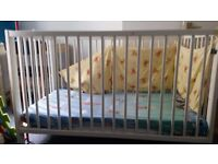 Nursery bed and mattress-Good condition
