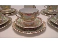Stunning Vintage Tea Set / Trios - Gladstone China. Ideal for Vintage Wedding or Tea Party