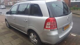 PCO car for sale Vauxhall zafira 12 plate 1.7 diesel Eco flex 7 seater SILVER manual