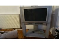 Panasonic Quintrix2 8 inch TV and stand