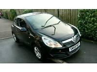 Vauxhall Corsa Breeze, 1.0 petrol, manual, 3 door hatchback, 2009 in black with 12 months MOT!!!