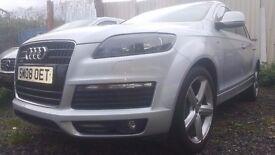 Audi Q7 3.0 TDI S Line Tiptronic Quattro 5dr 12 month mot FSH BOSE SOUND FULL LEATHER FULLY LOADED