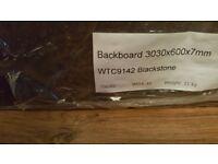 Black Granite effect kitchen splashboard