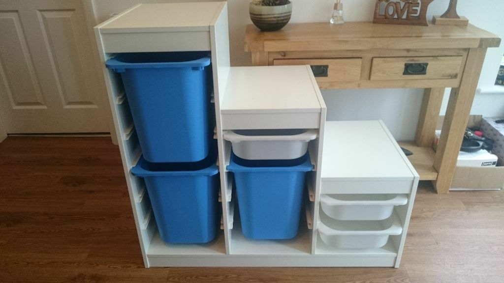 reduced for quick sale 1 x ikea trofast toy storage unit. Black Bedroom Furniture Sets. Home Design Ideas