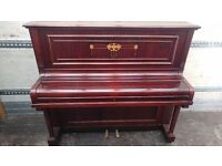 Immaculate Mahogany 'Kirshmann' Upright Console Piano - CAN DELIVER