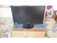 """AOC 70 series E2470SWDA 23.6"""" Widescreen LED Monitor, built-in Speakers"""