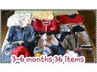 Boys clothing 3-6 months bundle.