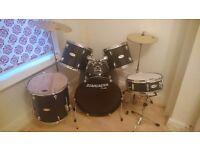 Fender Starcaster Black Drum Kit for sale