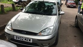 2002 Ford Focus ztec 5dr hatchback petrol 1.6l silver BREAKING FOR SPARES