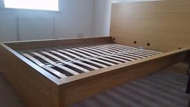 Ikea malm double bed frame looks like new 4months old