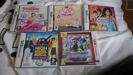 5 x Nintendo 3ds games