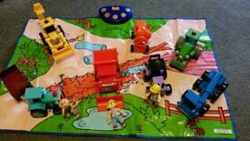 Bob the builder toys and play mat