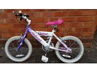 Girls Bike Raleigh Sunbeam Flutter 16 inch wheel