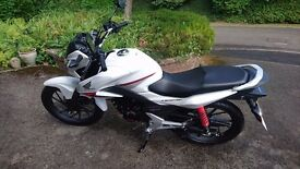 Lady owner selling brand new unridden white Honda CB125F motorbike Perfect Condition 18 miles
