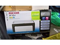 RICOH SP112su for sale Mono Laser printer, with colour scanner & copy Function, as new in box