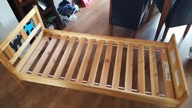 Children's IKEA bed with mattress suitable from 3 - 7 years old