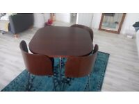 Ikea solid table with 4 chairs