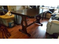 1940s Oak Refectory Dining Table in Fantastic Condition