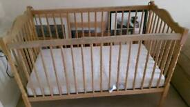 Toddlers Cot and mattress for sale