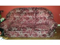 FREE 3 seater sofa. Collection only. Must collect by Wednesday 14th September.