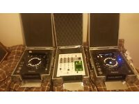Pioneer cd decks with mixer
