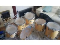 Pearl Vision VBX SST All Birch 6-Piece Drum Shells (incl. cymbal stand x2 and cases)