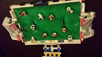 Lego soccer field and game