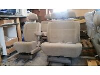 Captain Seat & Swivel Double Bench. VW T4 T5 Transit Camper Van. 180 Table Bed. Sliding rock roll