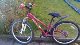 Girls bike, appollo entice 24 inch